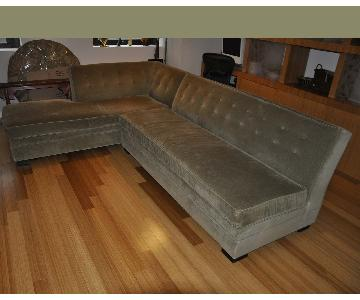 Mitchell Gold + Bob Williams Left Hand Chaise Sectional Sofa