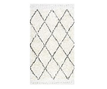 nuLOOM Moroccan Hand Knotted Shag Fez Wool Rug