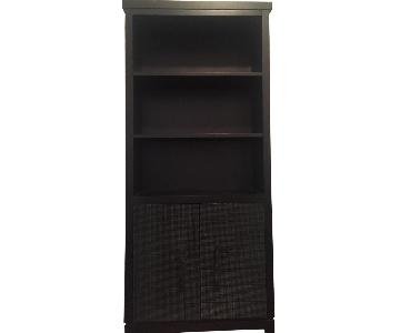 Black Bookcase w/ Storage