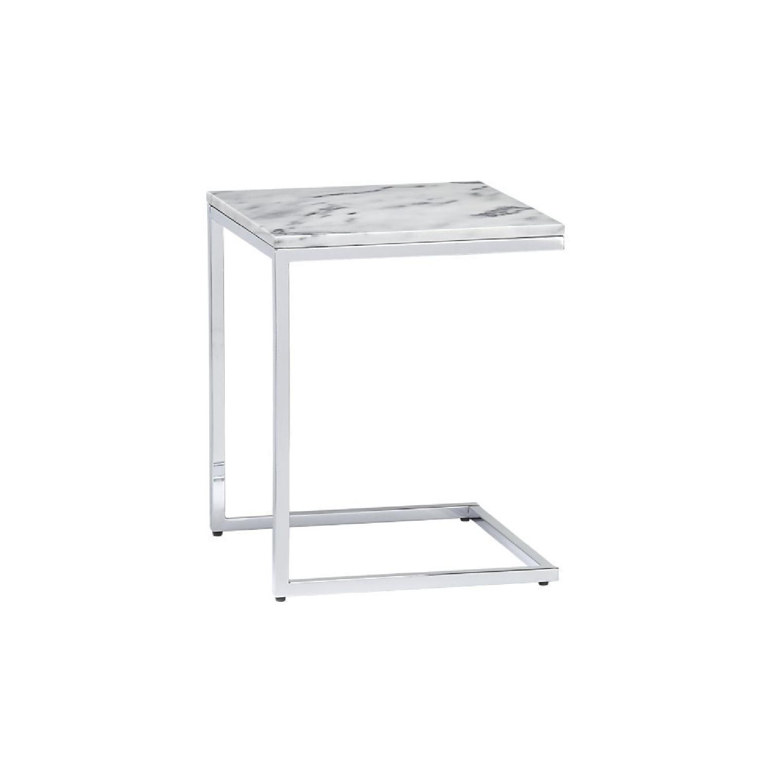 CB2 Marble Side Table