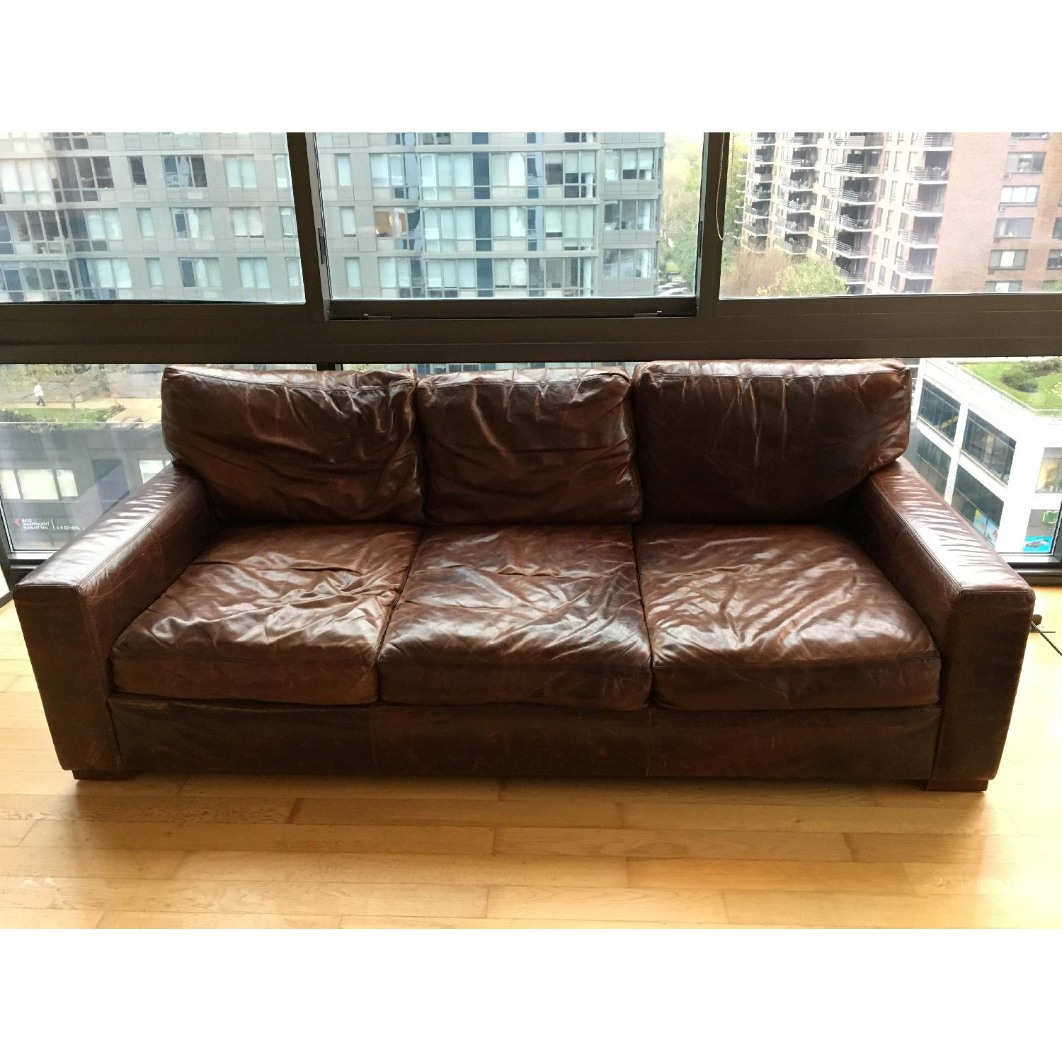 Restoration Hardware Maxwell Leather Sofa in Brompton AptDeco