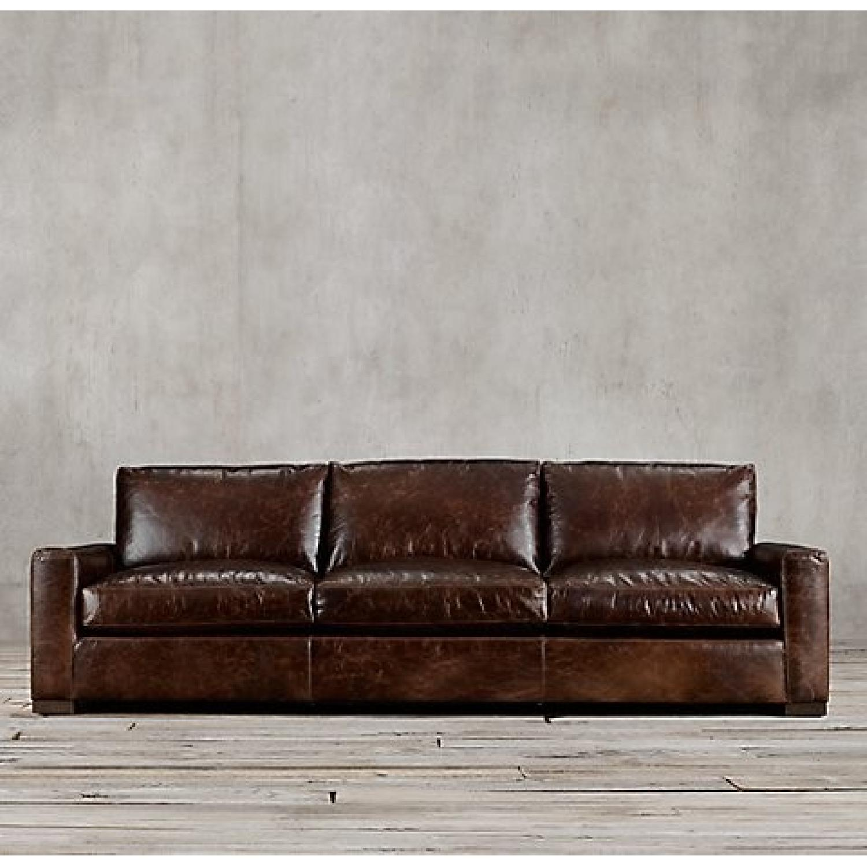 Restoration Hardware Maxwell Leather Sofa in Brompton AptDeco