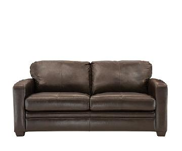 Raymour & Flanigan Trent Leather Full Sleeper Sofa