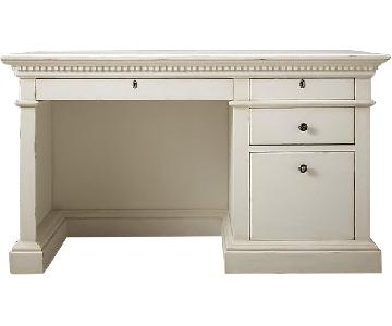 Restoration Hardware Antiqued White Desk