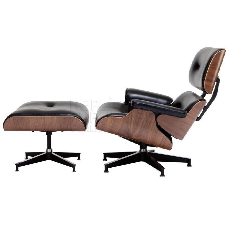 Eames Chair With Ottoman Vitra Eames Walnut Lounger Ottoman Aptdeco