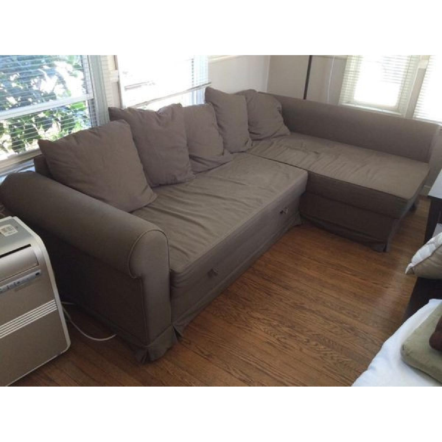 Ikea Moheda Corner Sleeper Sectional Sofa AptDeco
