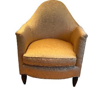 Art Deco Reupholstered Armchair