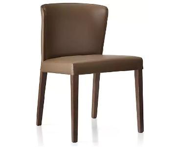 Crate & Barrel Curran Carmel Dining Chair