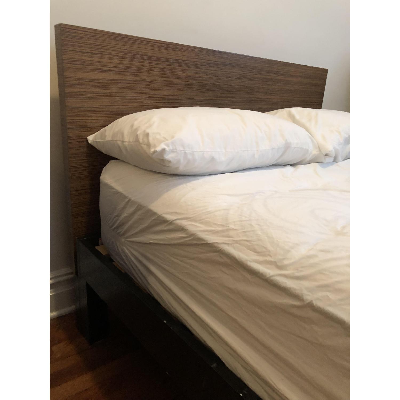 west elm full metal bed frame w wood headboard