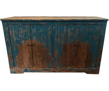Distressed Wood Console/Buffet