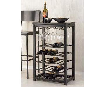 Crate & Barrel Alto Wine Rack & Stand
