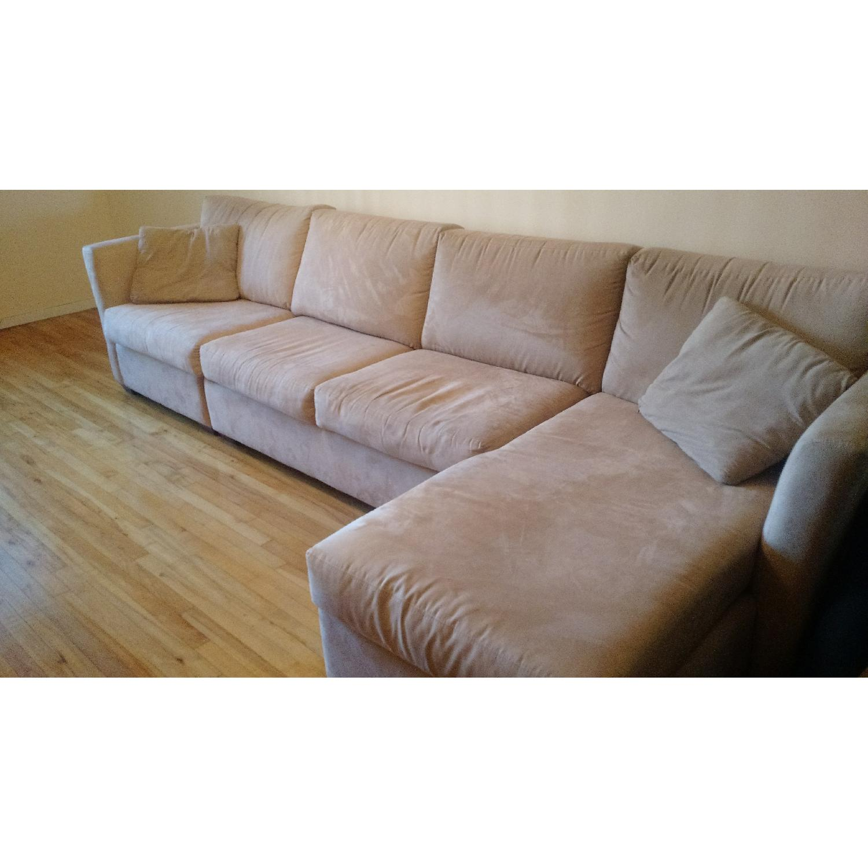 Klaussner Beige 3 Piece Sectional Sofa