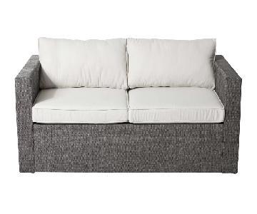 Pangea Home Patio/Outdoor Loveseat w/ Cushions