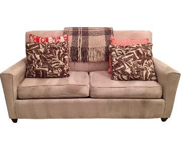 Klaussner Full-Size Microfiber Sleeper Sofa
