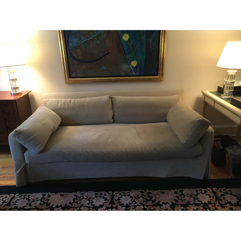 Restoration Hardware Belgian Slope Arm Sofa ...