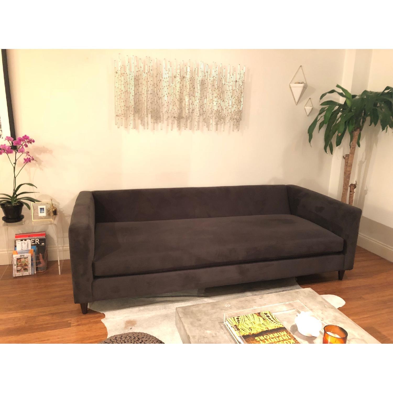 CB2 Dark Grey Movie Sofa-0