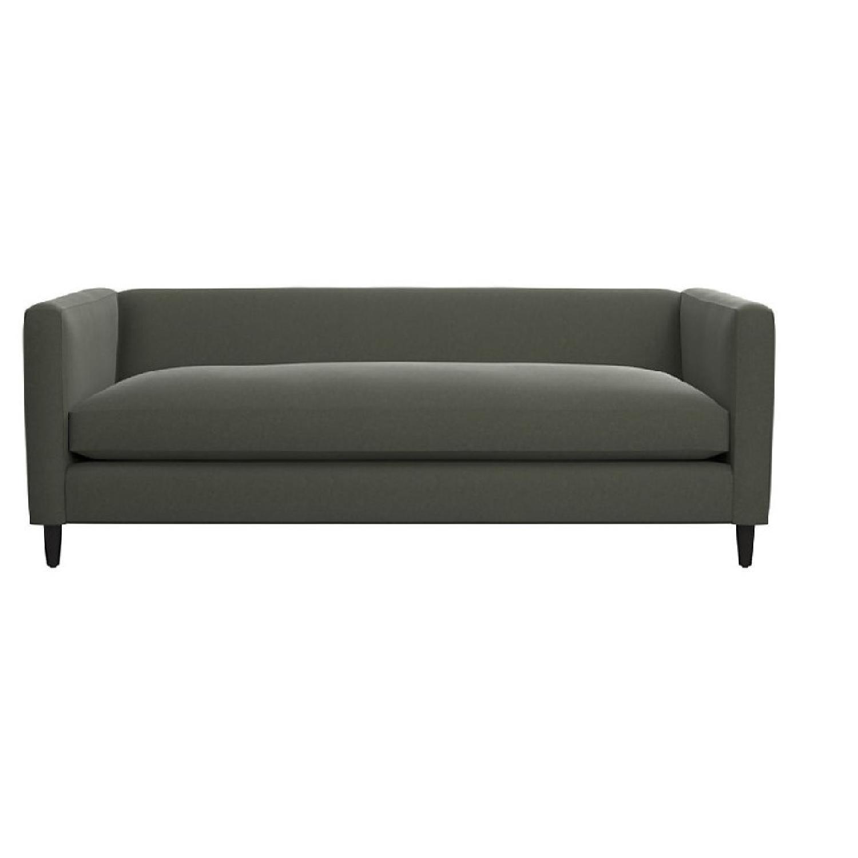 CB2 Dark Grey Movie Sofa