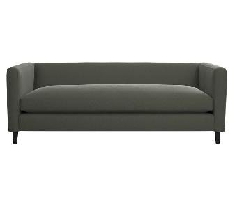 CB2 Dark Grey Movie Sofa