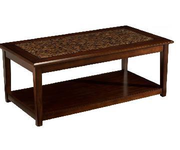 Raymour & Flanigan Wynn Coffee Table w/ Mosaic Tiles Top