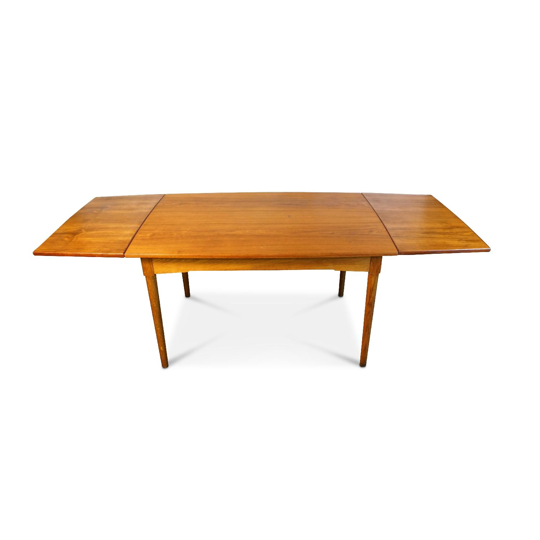 Mads Danish Mid Century Modern Teak Dining Table AptDeco