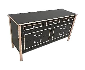 Thomasville Faux Bamboo Lacquer Mid Century Dresser