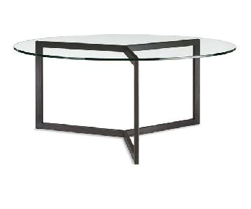 Room & Board Round Glass Dining Table