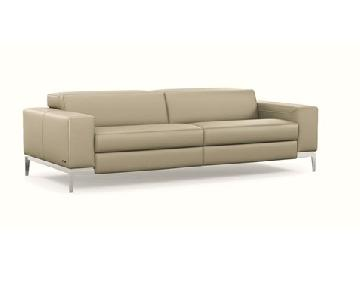 Roche Bobois Calisto Leather Reclining Sofa