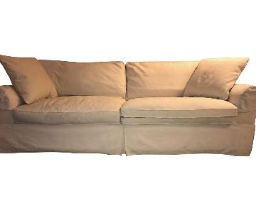 Restoration Hardware Belgian Linen Sofa w/ Down Feather