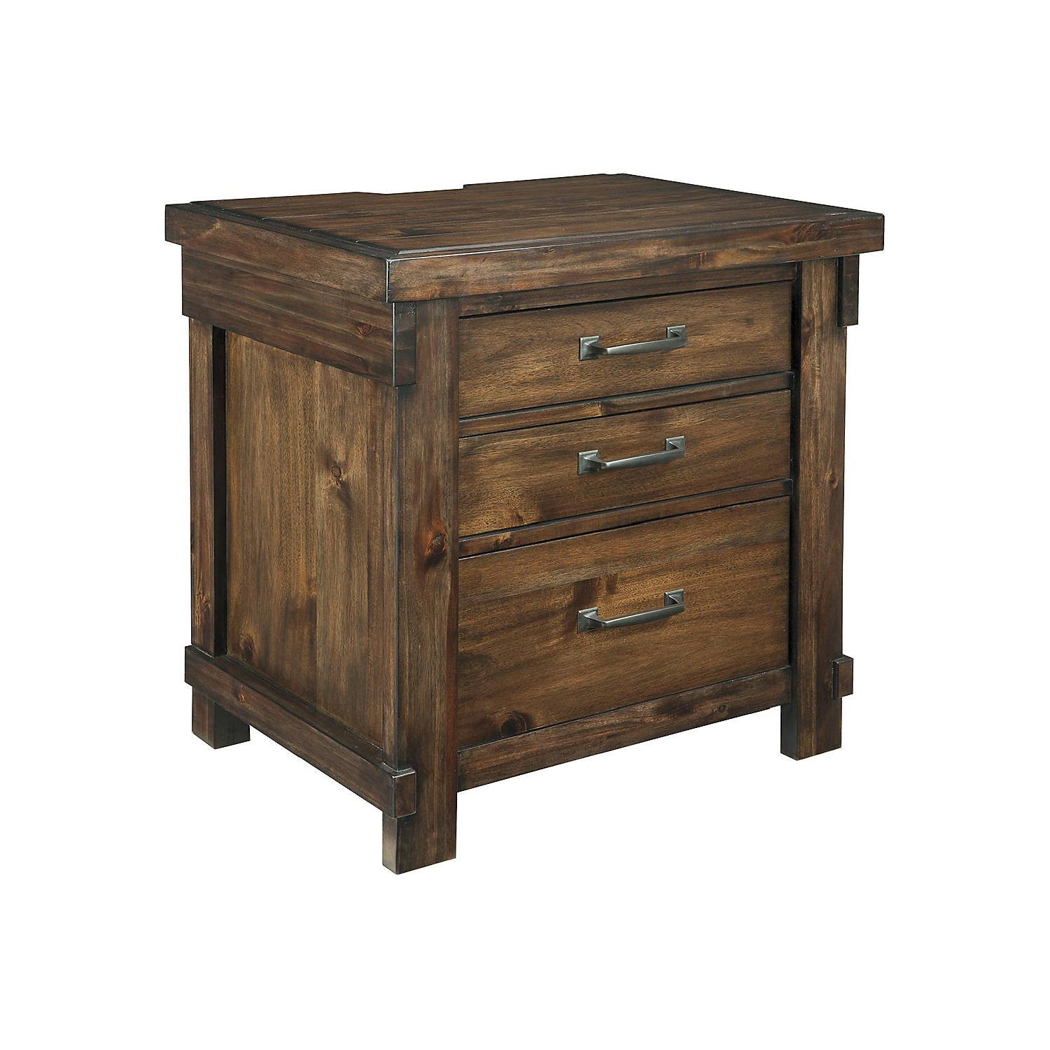 Ashley Furniture Lakeleigh Brown Three Drawer Night Stand