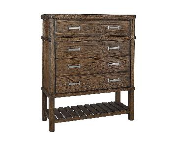 Ashley Furniture Leystone Dark Brown Four Drawer Chest