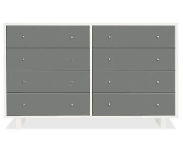 Room & Board Moda Gray 8 Drawer Dresser