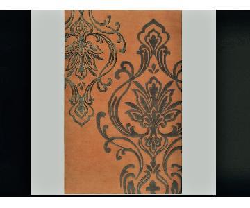 Candice Olson Hand-Tufted Orange Orpheus Damask Wool Rug