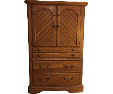 Vintage Oak Armoire