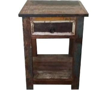 Reclaimed Rustic Side Table