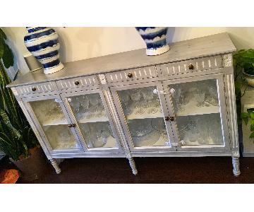 Lillian August Grey Wood & Glass Sideboard