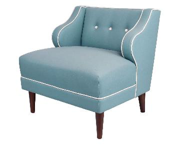 SohoMod Transitional Teal Upholstered Accent Chair
