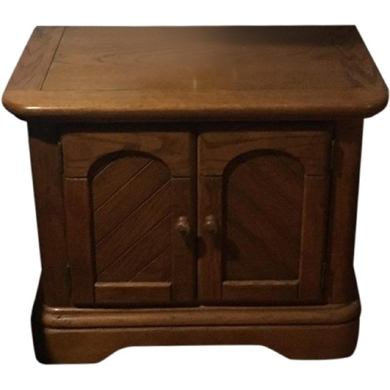 Wood Computer Desk W Hutch Aptdeco