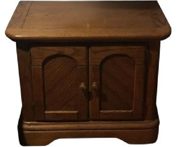 Vintage Wood Nightstand
