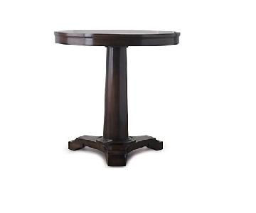 Restoration Hardware Round Pedestal Side Table