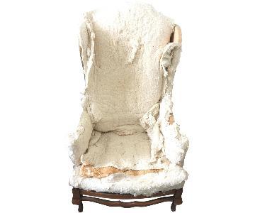 Vintage 1970's Wing Chair