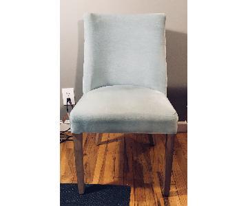 Restoration Hardware Spruce Velvet French Barrelback Chair