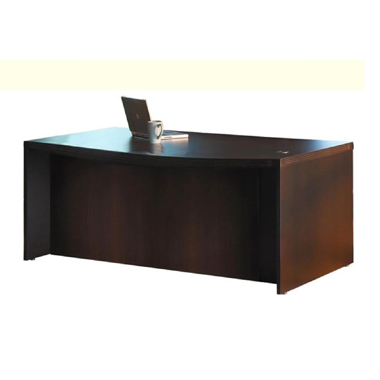 Mayline Aberdeen Laminate Bow puter fice Desk AptDeco