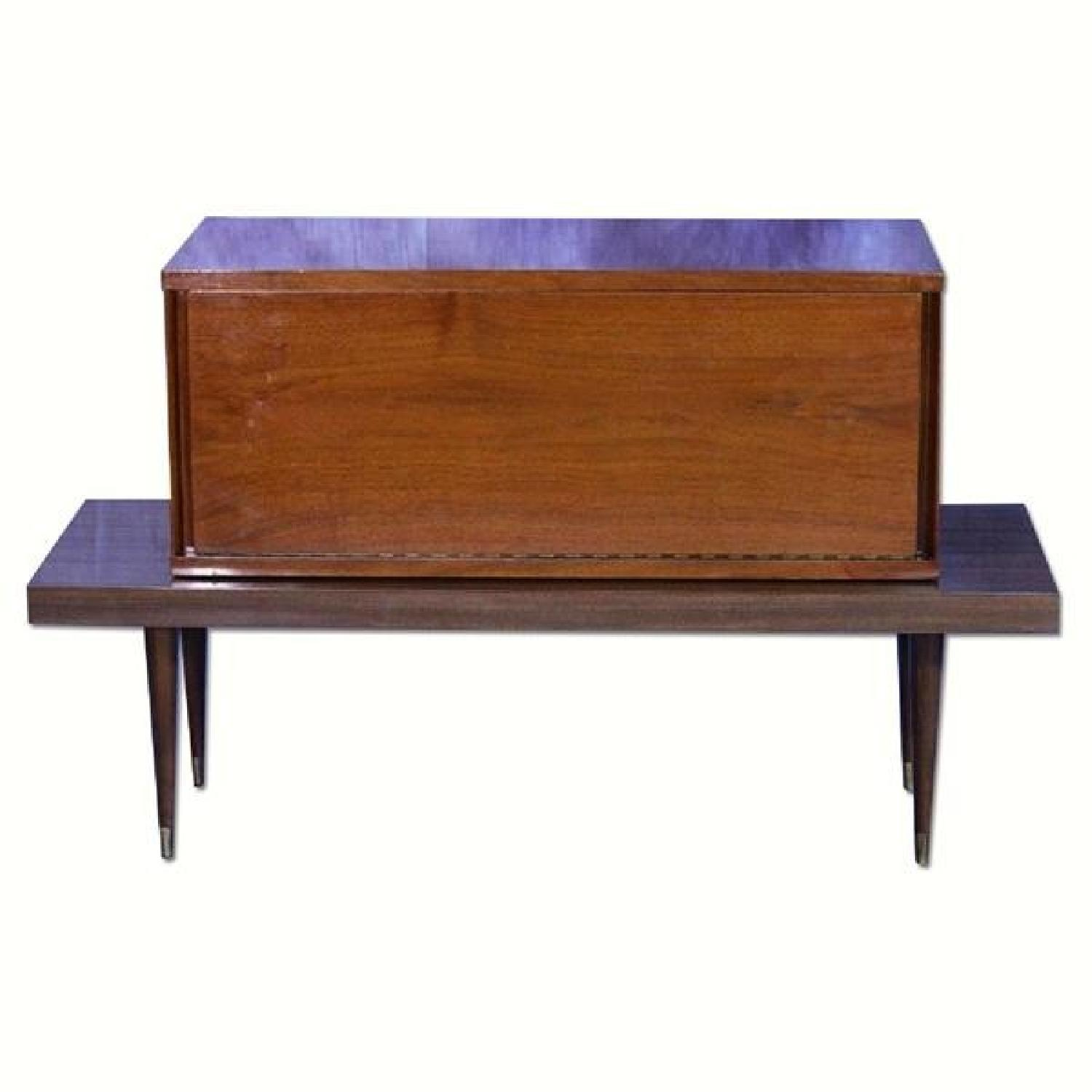 Mid Century Modern Walnut Bar Table
