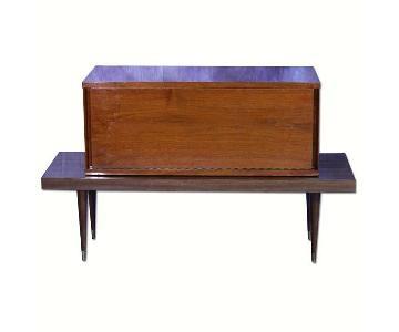 Mid Century Modern Walnut Bar Table