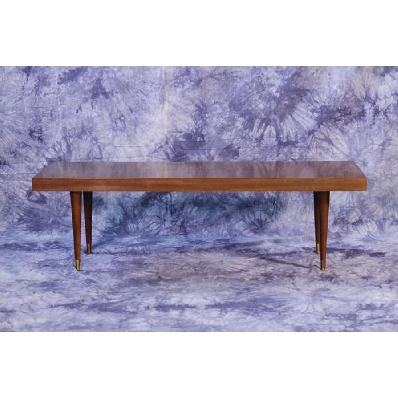 Mid Century Modern Walnut Bar Table AptDeco