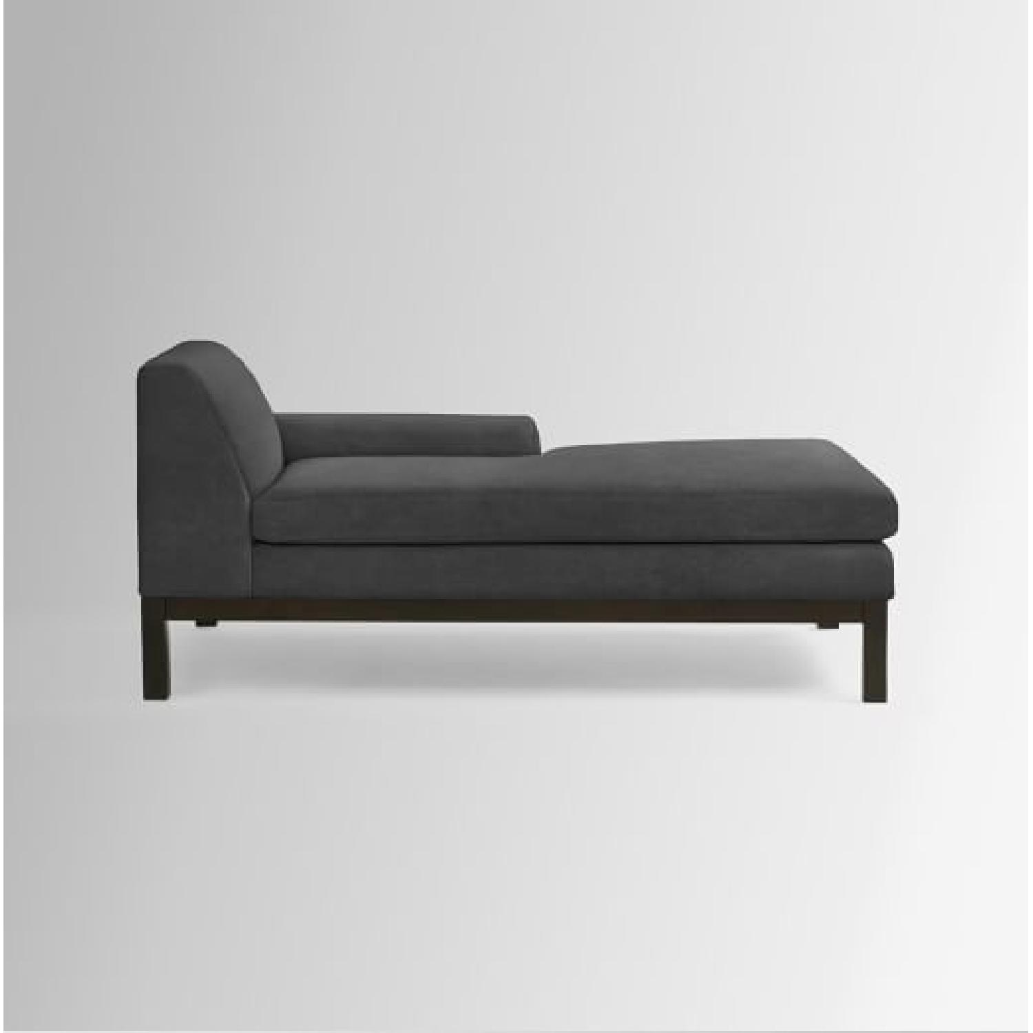 West Elm Lorimer Grey Chaise Lounge ... : chaise lounge grey - Sectionals, Sofas & Couches