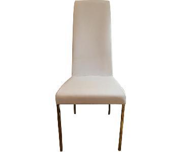 Bontempi Aida Modern White Leather Chair