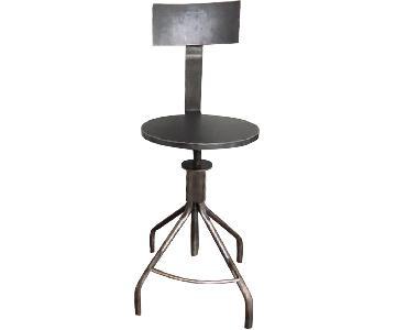 ABC Carpet and Home Adjustable Steel Bar Stool