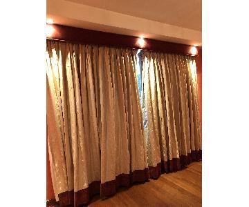 Silk & Velvet Curtain w/ Valance