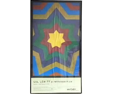 Whitney Museum Sol Lewitt Framed Poster